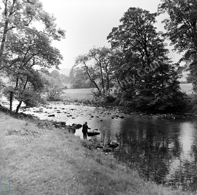 Fishing, River Wharfe, Burnsall